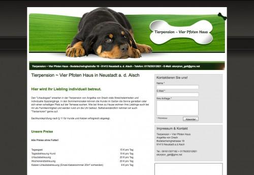 Firmenprofil von: Tierpension ~ Vier Pfoten Haus in Neustadt an der Aisch