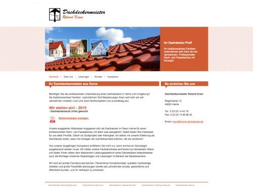 Firmenprofil von: Erfahrener Dachdecker in Herne: Dachdeckermeister Roland Kram