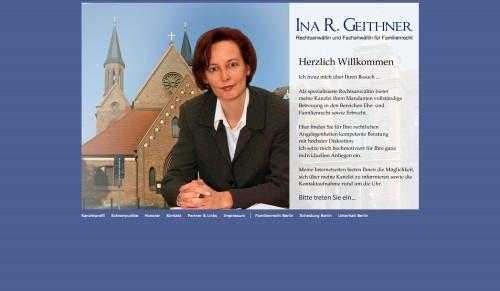 Firmenprofil von: Ina R. Geithner: Rechtsanwältin und Fachanwältin für Familienrecht in Berlin