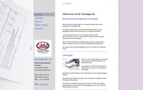 Firmenprofil von: Kfz-Sachverständiger Frank Baer in Königs Wusterhausen bei Berlin