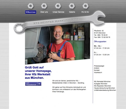 Firmenprofil von: Meisterhafte Kfz-Reparatur: Autoflügel in München