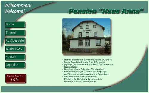 "Firmenprofil von: Pensionen in Altenberg: Pension ""Haus Anna"""