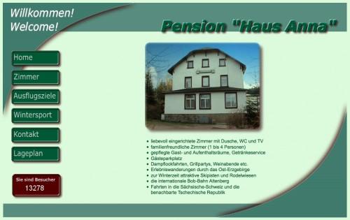 """Firmenprofil von: Pensionen in Altenberg: Pension """"Haus Anna"""""""