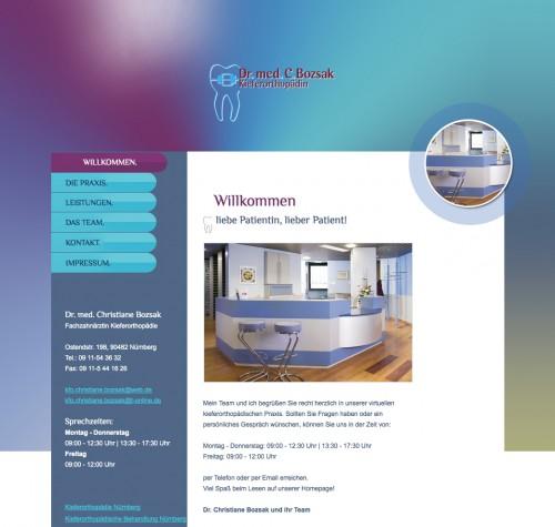 Firmenprofil von: Kieferorthopädische Behandlung in Nürnberg: Dr. med. Christiane Bozsak