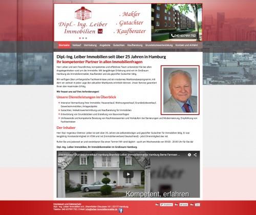 Firmenprofil von: Immobilienbüro Dipl.-Ing. Leiber Immobilien e.K. in Hamburg