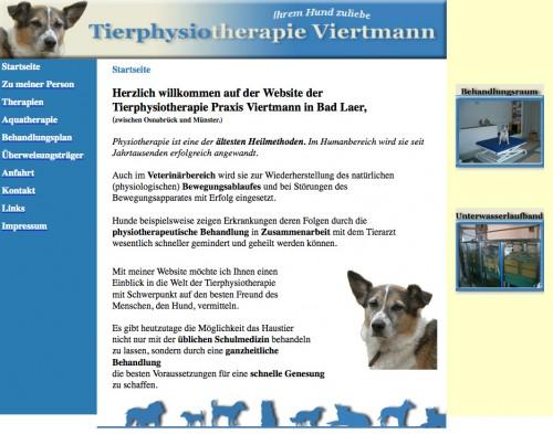Firmenprofil von: Tierphysiotherapie Praxis Viertmann in Bad Laer