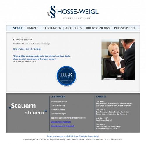 Firmenprofil von: Finanzbuchhaltung in Ingolstadt: Hosse-Weigl Steuerberatungsges. mbH