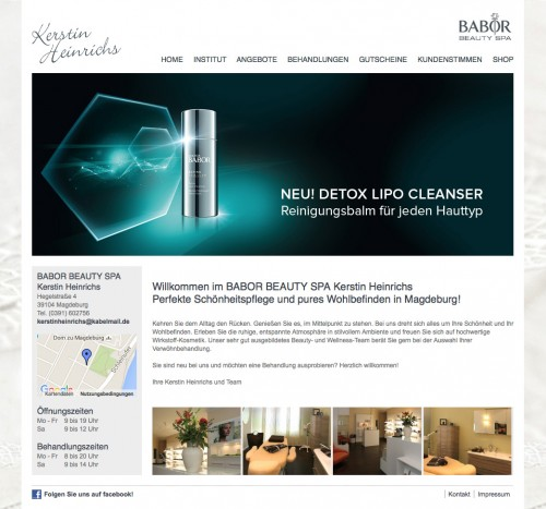 Firmenprofil von: Kosmetikinstitut BABOR BEAUTY SPA in Magdeburg