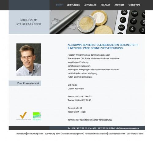 Firmenprofil von: Klassische Steuerberatung nach Maß: Steuerberater Dirk Pade in Berlin