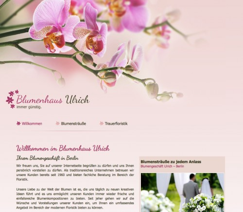 Firmenprofil von: Floristik in Berlin: Blumenhaus Ulrich