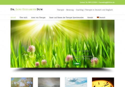 Firmenprofil von: Praxis für Psychologie in München:  Dr. Jane Elizabeth Dum