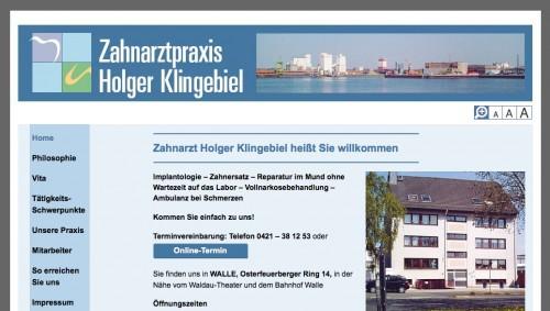 Firmenprofil von: Zahnarzt in Bremen: Zahnarztpraxis Holger Klingebiel