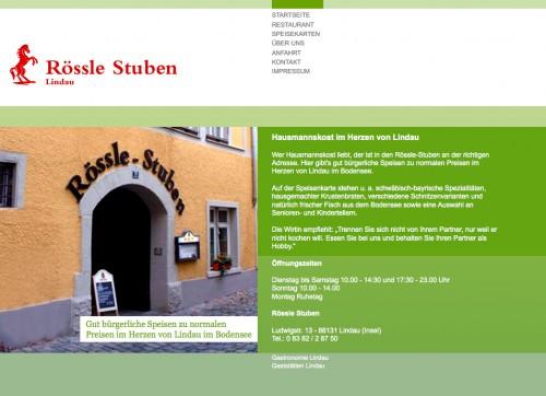 Firmenprofil von: Speisegaststätte in Lindau: Gaststätte Rössle-Stuben