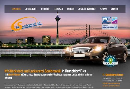 Firmenprofil von: Autolackiererei in Düsseldorf: Karosserie- und Lackierfachbetrieb Sombrowski e.K.