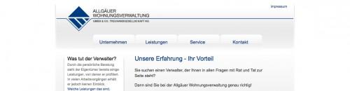Firmenprofil von: Immobilienservice Kaufbeuren: Allgäuer Wohnungsverwaltung