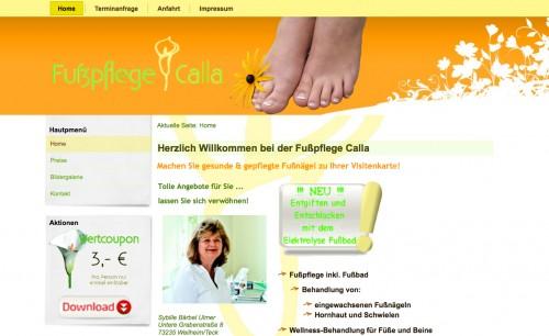 Firmenprofil von: Fußpflege Calla: Gesunde, schöne Füße in Weilheim an der Teck