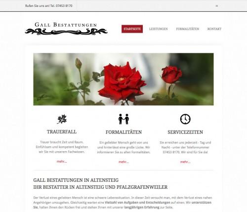 Firmenprofil von: Bestattungen Gall in Altensteig und Pfalzgrafenweiler