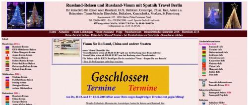 Firmenprofil von: Reisen in die Länder der GUS: Rundum betreut bei Sputnik Travel in Berlin
