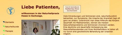 Firmenprofil von: Heilpraktikerin in Eschwege: Katharina Hesse