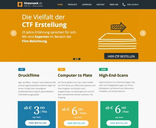 Firmenprofil von: Druckplattenbelichtung und Druckfilmbelichtung: hinzurueck.de