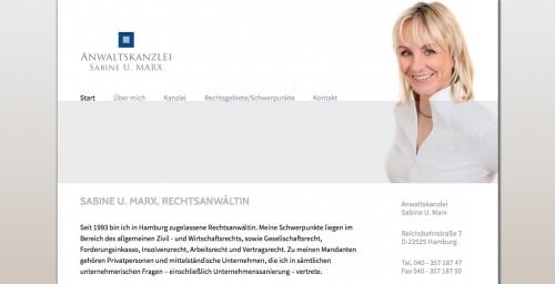 Firmenprofil von: Anwältin für Wirtschaftsrecht in Hamburg: Anwaltskanzlei Sabine U. Marx