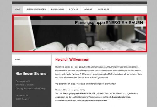 Firmenprofil von: Fördermittelberatung in Hannover: Planungsgruppe ENERGIE + BAUEN GbR
