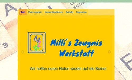 Firmenprofil von: Millis - Zeugnis - Werkstatt – mit Einzelnachhilfe zum schulischen Erfolg