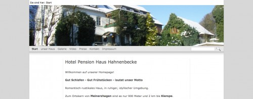 Firmenprofil von: Hotel Haus Hahnenbecke in Meinerzhagen