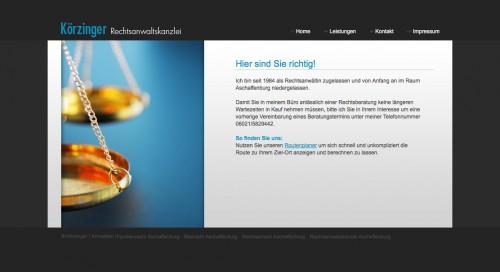Firmenprofil von: Sozialrecht in Aschaffenburg: Rechtsanwältin Karin Körzinger