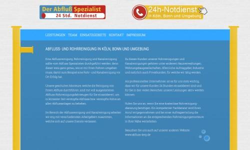 Firmenprofil von: Rohrreiniger in Bonn: Der Abfluss Spezialist Andreas Max Keip