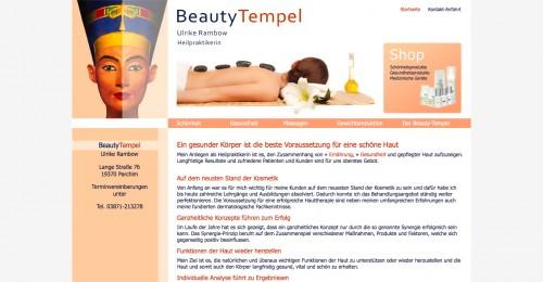 Firmenprofil von: BeautyTempel Rambow in Parchim: Harmonie für Körper und Haut