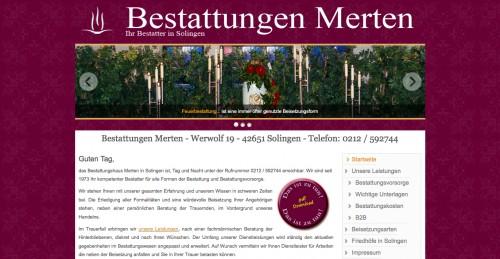 Firmenprofil von: Die richtige Bestattungsvorsorge beim Bestattungsinstitut Merten in Solingen
