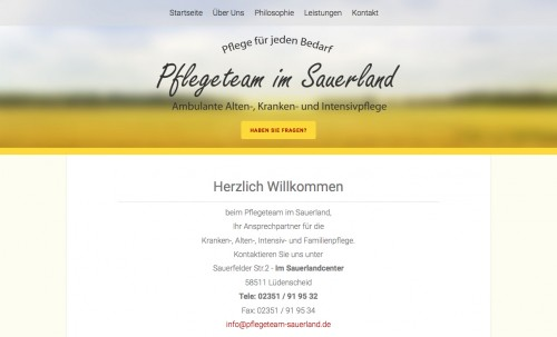 Firmenprofil von: Pflegedienst in Lüdenscheid: ganzheitliche Pflege mit Herz