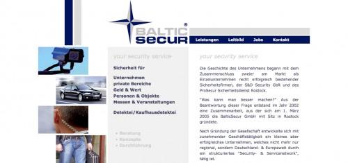 Firmenprofil von: BalticSecur GmbH Rostock