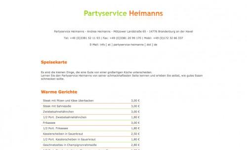 Firmenprofil von: Partyservice und Restaurant in Brandenburg an der Havel: Partyservice Heimanns