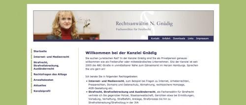 Firmenprofil von: Erfahrene Fachanwältin für Strafrecht in Hamburg: Rechtsanwältin Natascha Gnädig