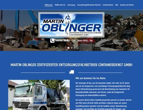 Firmenprofil von: Martin Oblinger zertifizierter Entsorgungsfachbetrieb Containerdienst GmbH