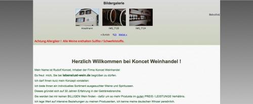 Firmenprofil von: Umfangreiches Angebot: Koncet Weinhandel aus Recklinghausen