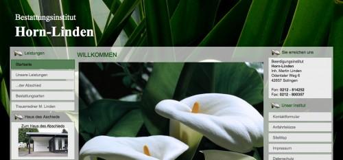 Firmenprofil von: Bestattungsvorsorge in Solingen: Beerdigungsinstitut Horn-Linden