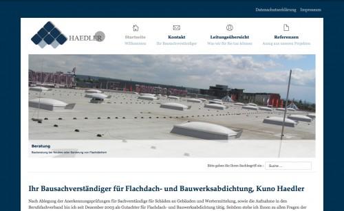 Firmenprofil von: Bausachverständiger für Flachdach und Bauwerksabdichtung: Kuno Haedler