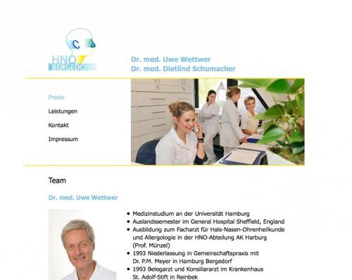 Firmenprofil von: HNO-Praxis Bergedorf: Gemeinschaftspraxis Wettwer und Schumacher