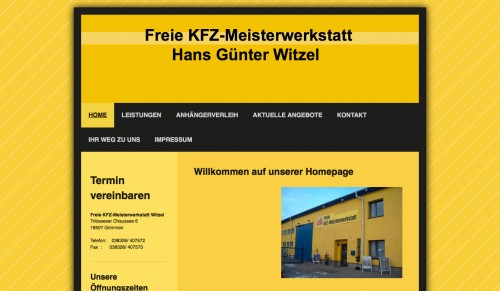 Firmenprofil von: Autoreparatur in Grimmen: Freie KFZ-Meisterwerkstatt Witzel