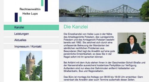 Firmenprofil von: Arbeitsrecht in Potsdam: Rechtsanwältin Heike Lups