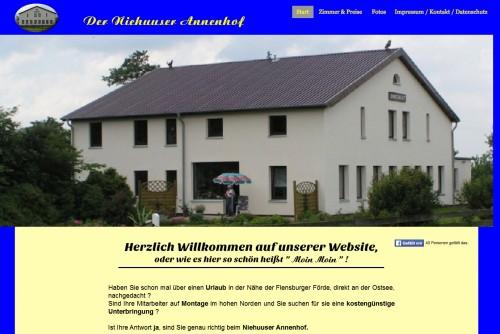Firmenprofil von: Niehuuser Annenhof: Ferienwohnungen in Harrislee bei Flensburg