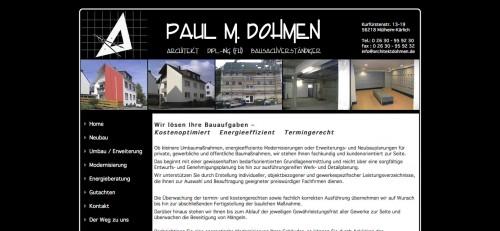 Firmenprofil von: Dipl.-Ing. Paul M. Dohmen in Mülheim-Kärlich: Architekt aus Leidenschaft
