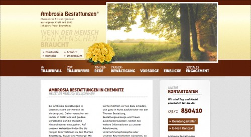 Firmenprofil von: Ambrosia Bestattungen: rücksichtsvoller und einfühlsamer Bestatter in Chemnitz