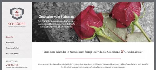 Firmenprofil von: Steinmetz Schröder bei Bonn: Individuelle Denkmäler für einzigartige Menschen