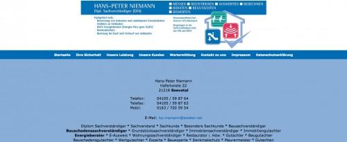 Firmenprofil von: Bausachverständiger Hans-Peter Niemann in Seevetal