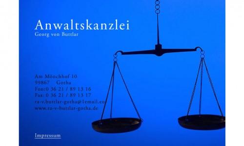Firmenprofil von: Anwaltskanzlei von Buttlar in Gotha