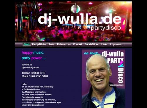 Firmenprofil von: Saturday Night Fever und mehr: DJ Wulla in Schleswig-Holstein